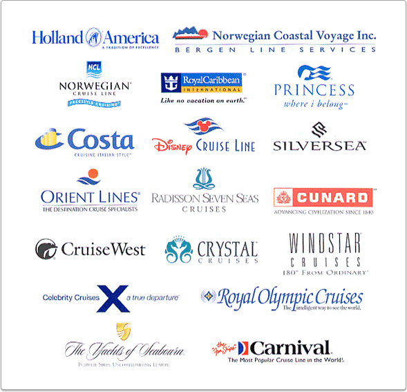 Cruise Lines Human Resources On Cruise Ships - Cruise ship logos